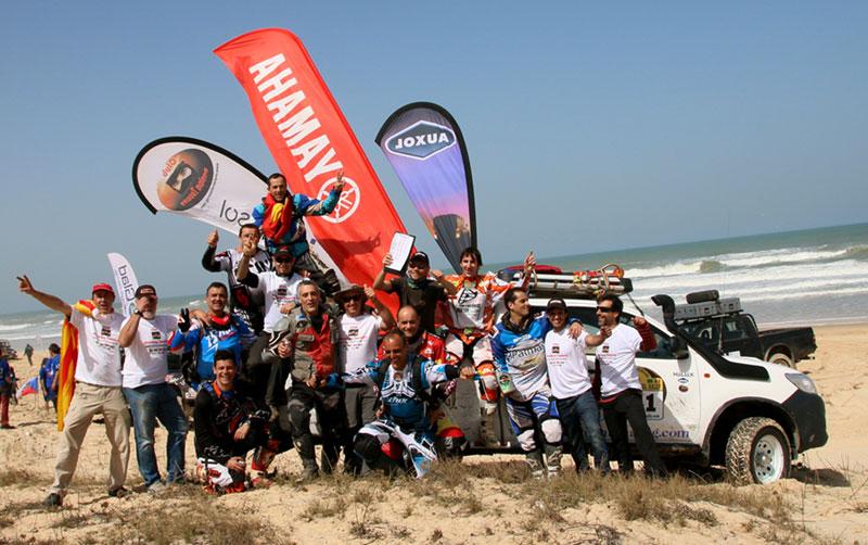 Gran victoria del equipo patrocinado por auxol en el intercontinental rally